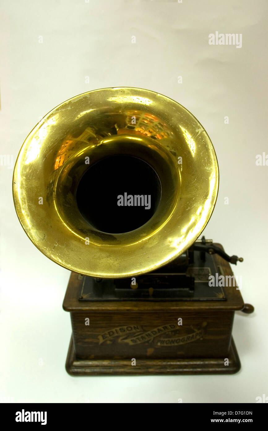 Edison Standard Phonograph - Stock Image