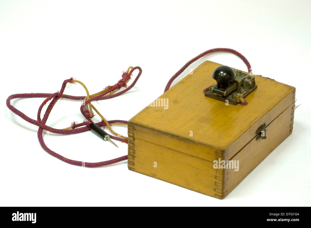 morse signal machine - Stock Image