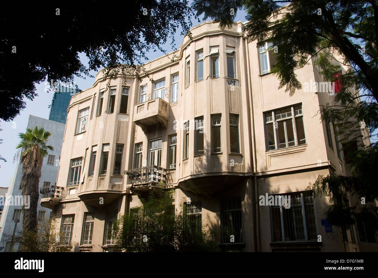 architecture in rothschild boulevard, tel aviv, 2007 - Stock Image