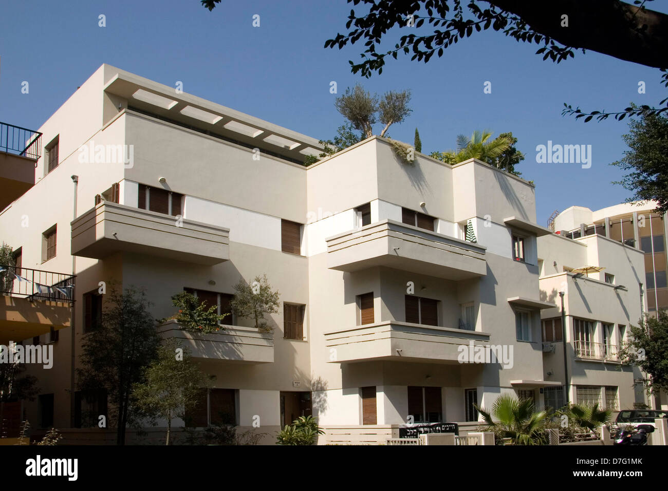 bauhaus architecture in rothschild boulevard, tel aviv Stock Photo