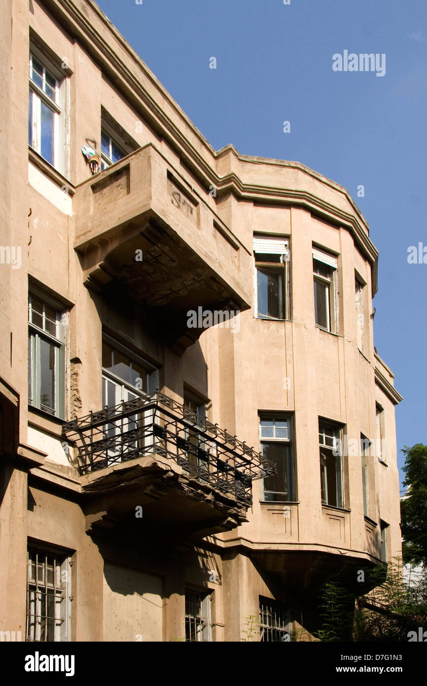 house in rothschild boulevard, tel aviv - Stock Image