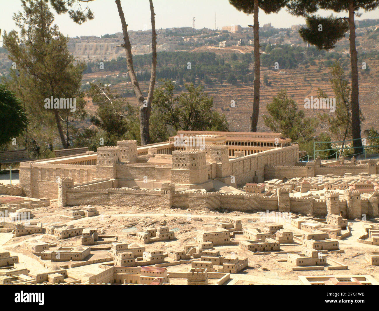 holyland model of ancient jerusalem - Stock Image