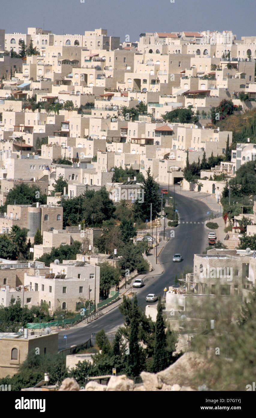 the suburb of malcha in jerusalem - Stock Image