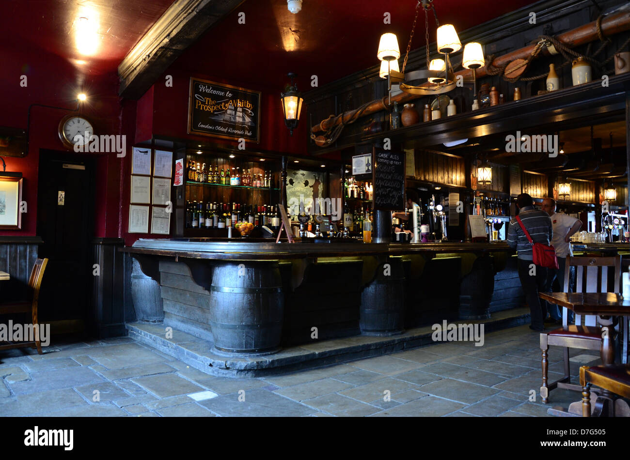 interior of the prospect of whitby pub wapping wall wapping london stock photo 56288853 alamy. Black Bedroom Furniture Sets. Home Design Ideas