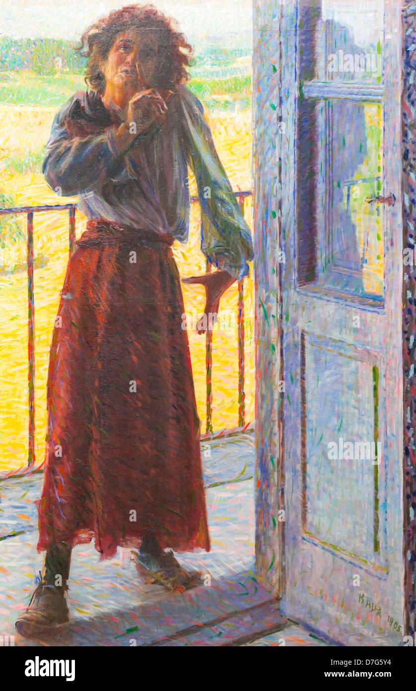 The crazy woman (la pazza), Giacomo Balla - Stock Image