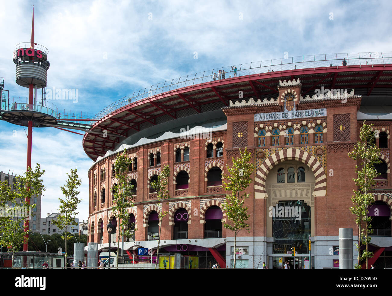 Spain Barcelona The Arenas An Ancient Plaza De Toros Bullring Stock Photo Alamy