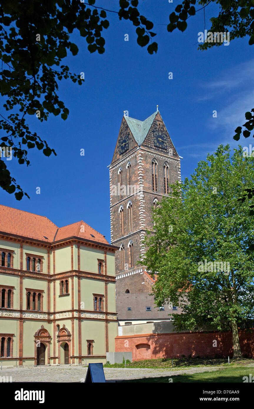 Mecklenburg Western Pomerania, Germany, Wismar, St. Marien church - Stock Image