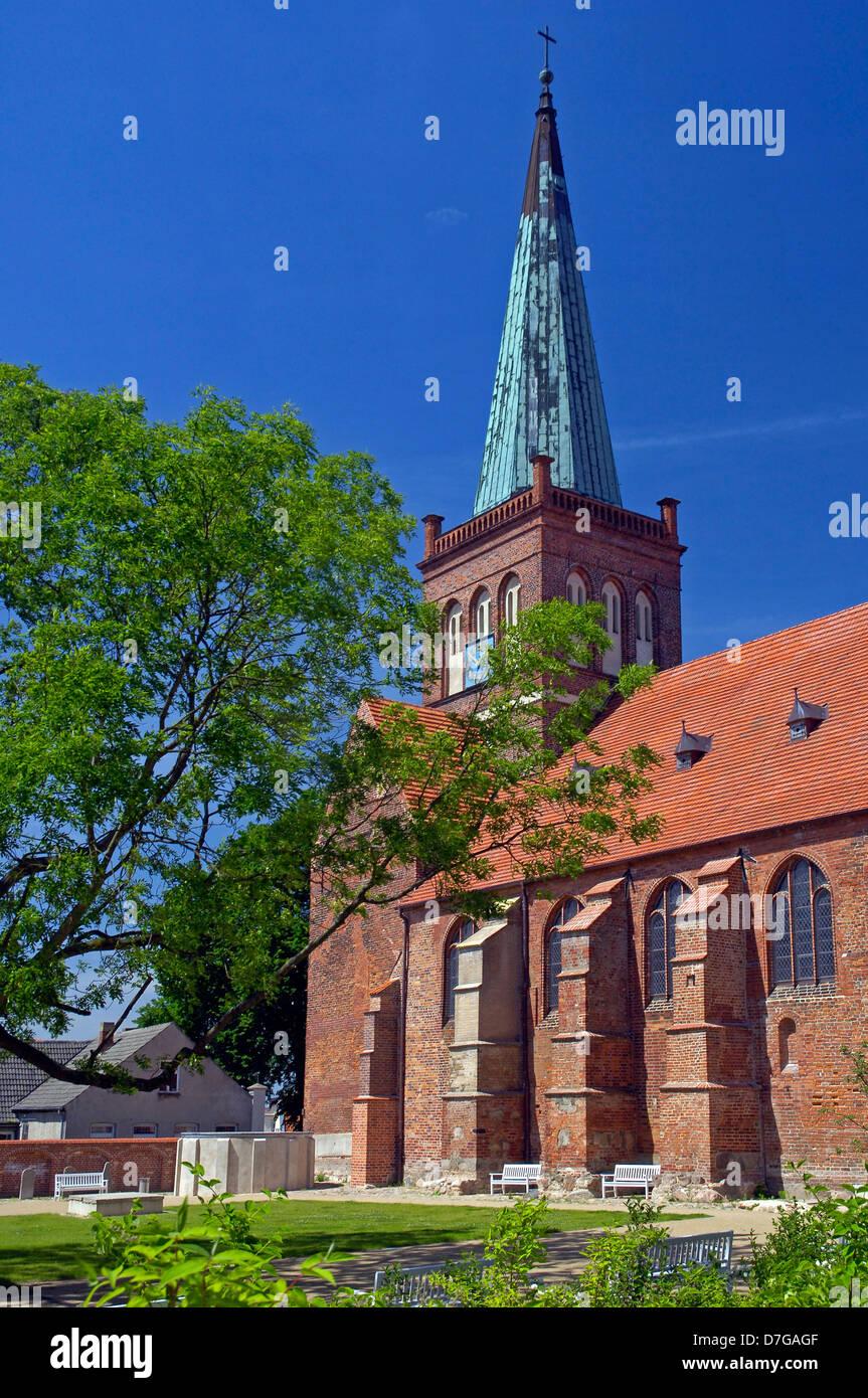 Mecklenburg Western Pomerania, Germany, Bergen, St. Marien church - Stock Image