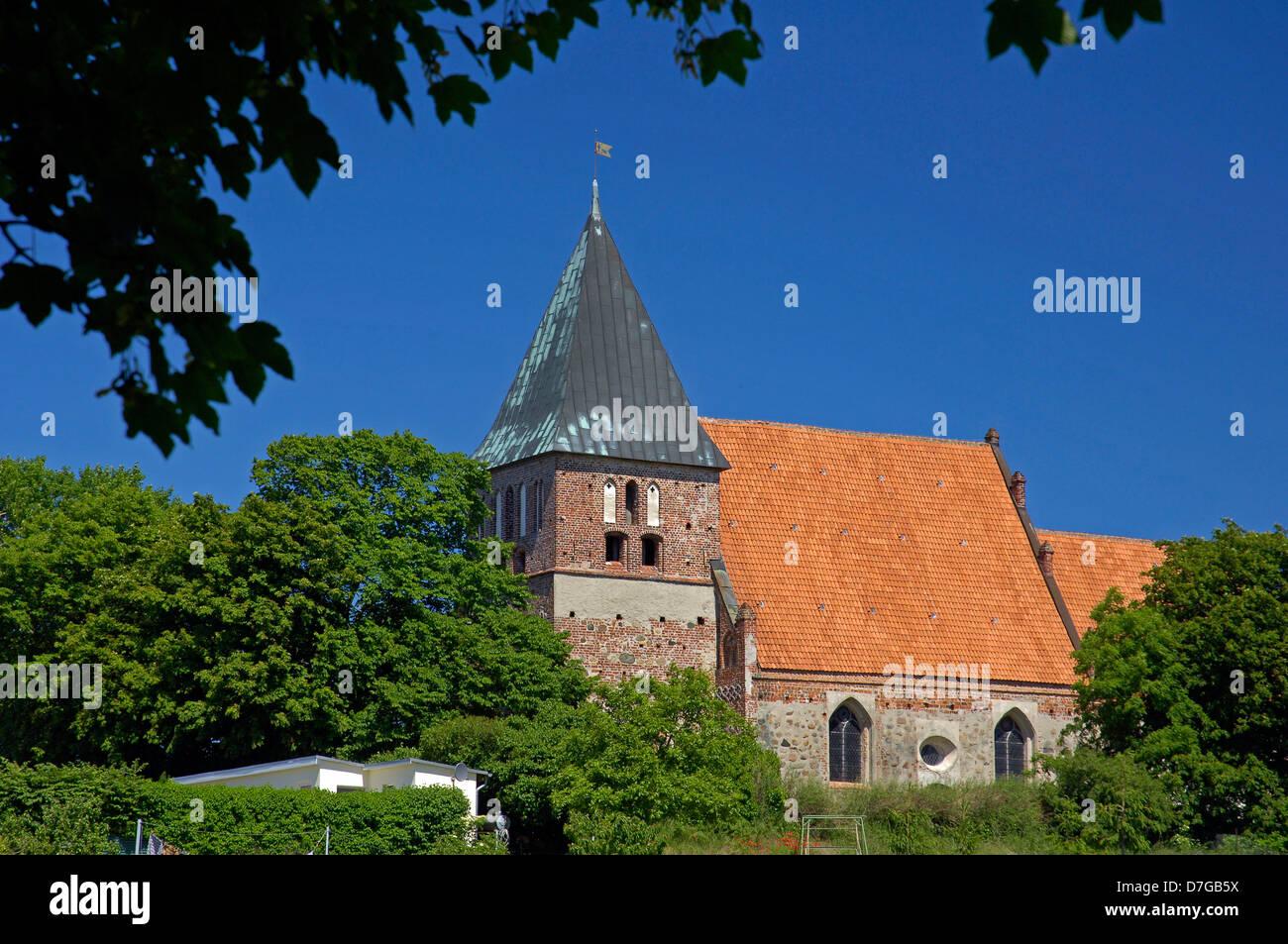 Germany, Mecklenburg-West Pomerania, island Rügen, fieldstone church Bobbin - Stock Image
