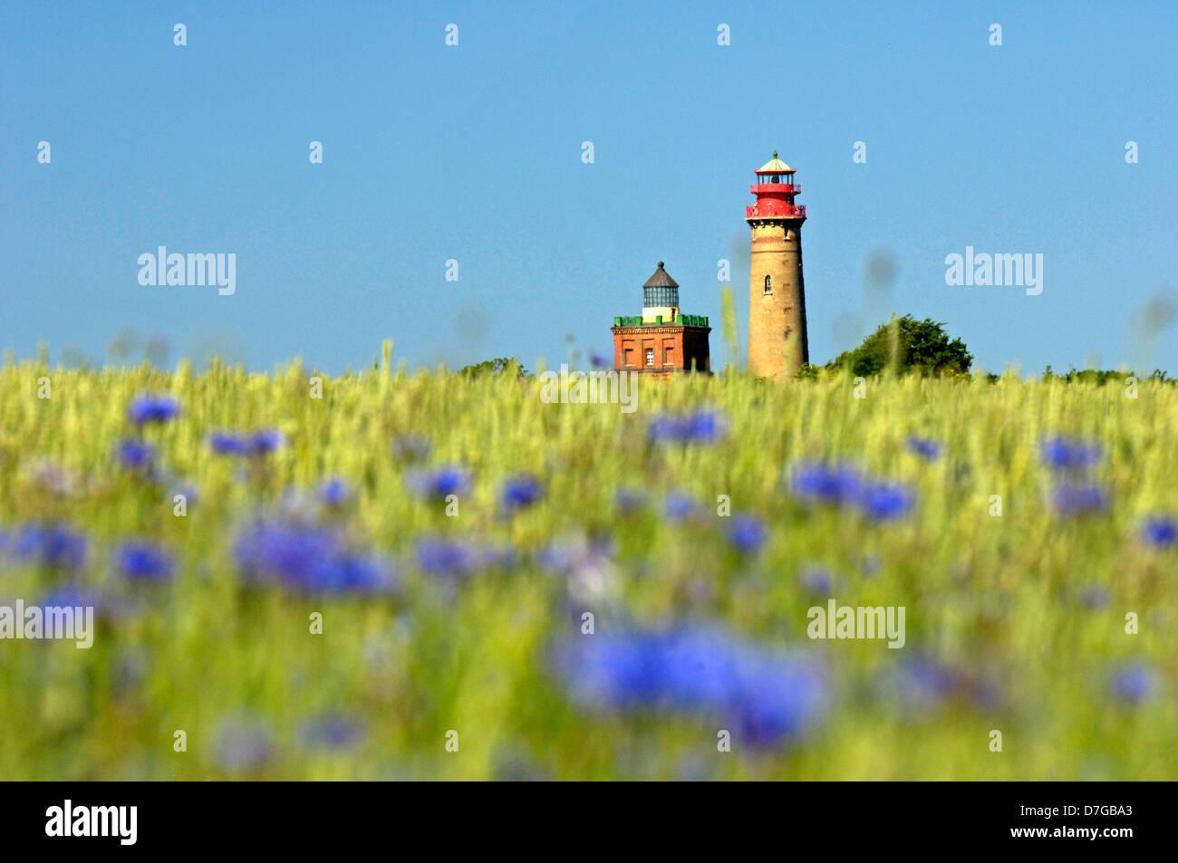 Germany, Mecklenburg-West Pomerania, island Rügen, cape Arkona, lighthouse - Stock Image