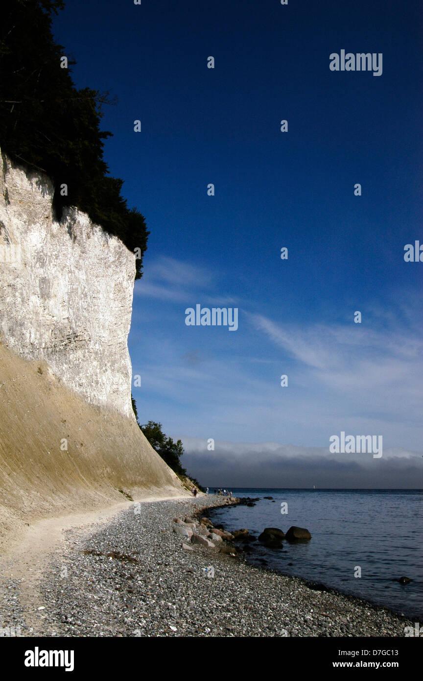 Germany, Island of Ruegen, Baltic Sea, Rügen, Wissower rocks, chalk rocks, Wissower Klinken, Kreidefelsen - Stock Image
