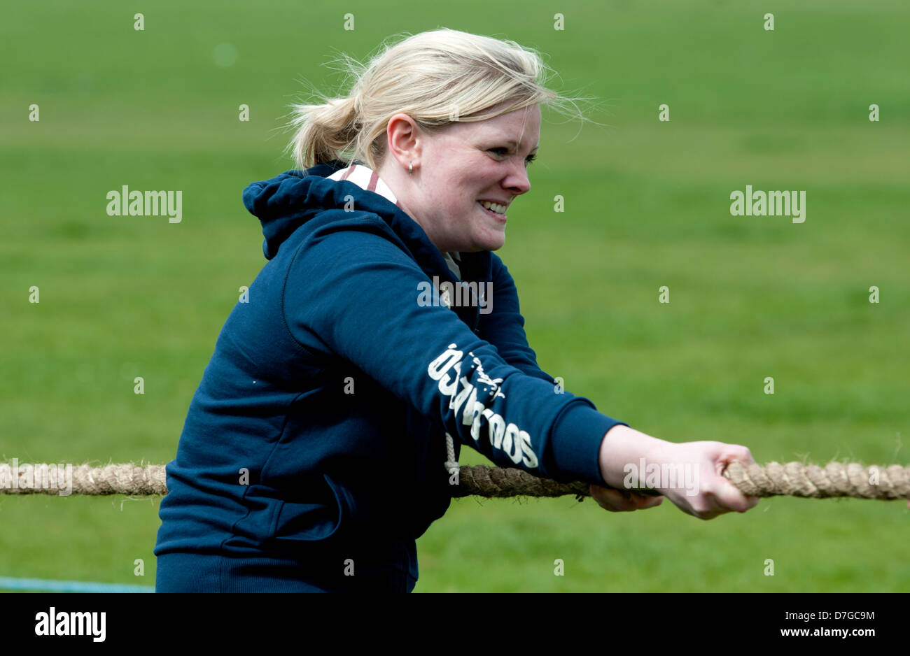 Tug of war at Hearsall Common, Coventry, UK - Stock Image