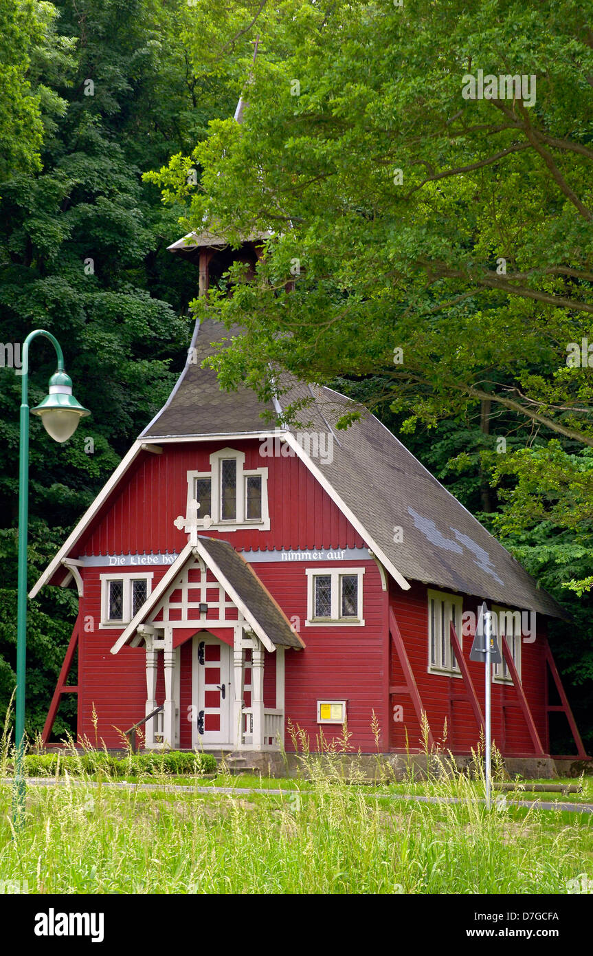Germany, Mecklenburg-West Pomerania, island Rügen, Ralswiek, Swede's church - Stock Image