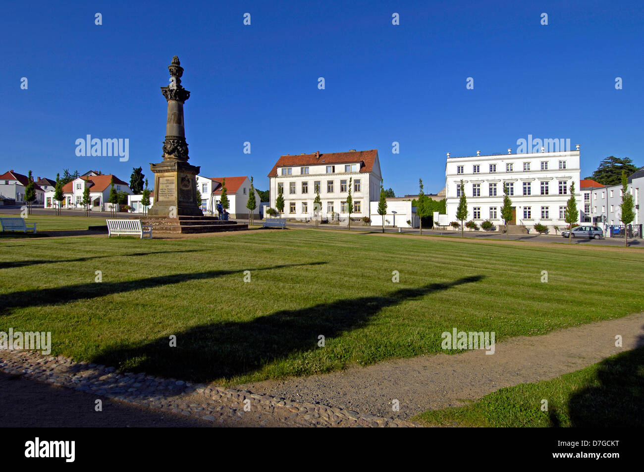 Germany, Mecklenburg-West Pomerania, island Rügen, Putbus, market - Stock Image