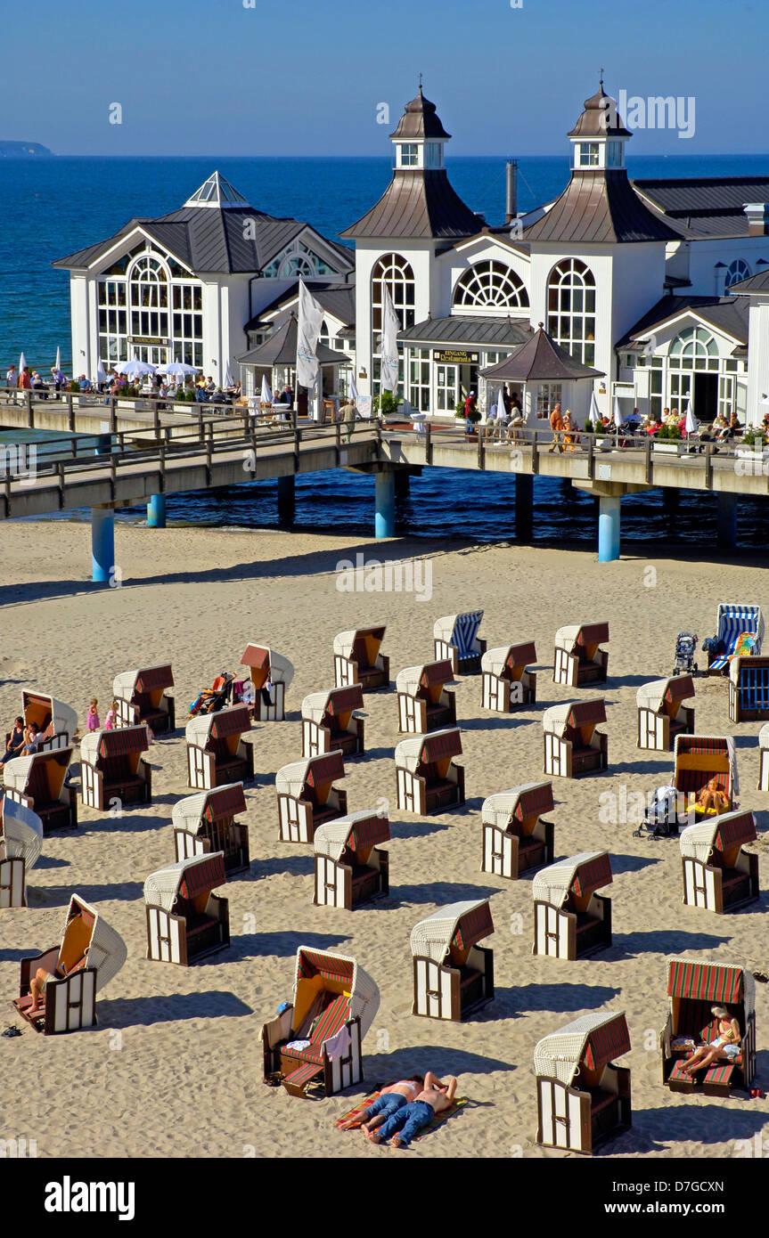 Deutschland, Mecklenburg-Vorpommern, Insel Ruegen, Sellin, Seebruecke, Ostsee, baltic sea - Stock Image