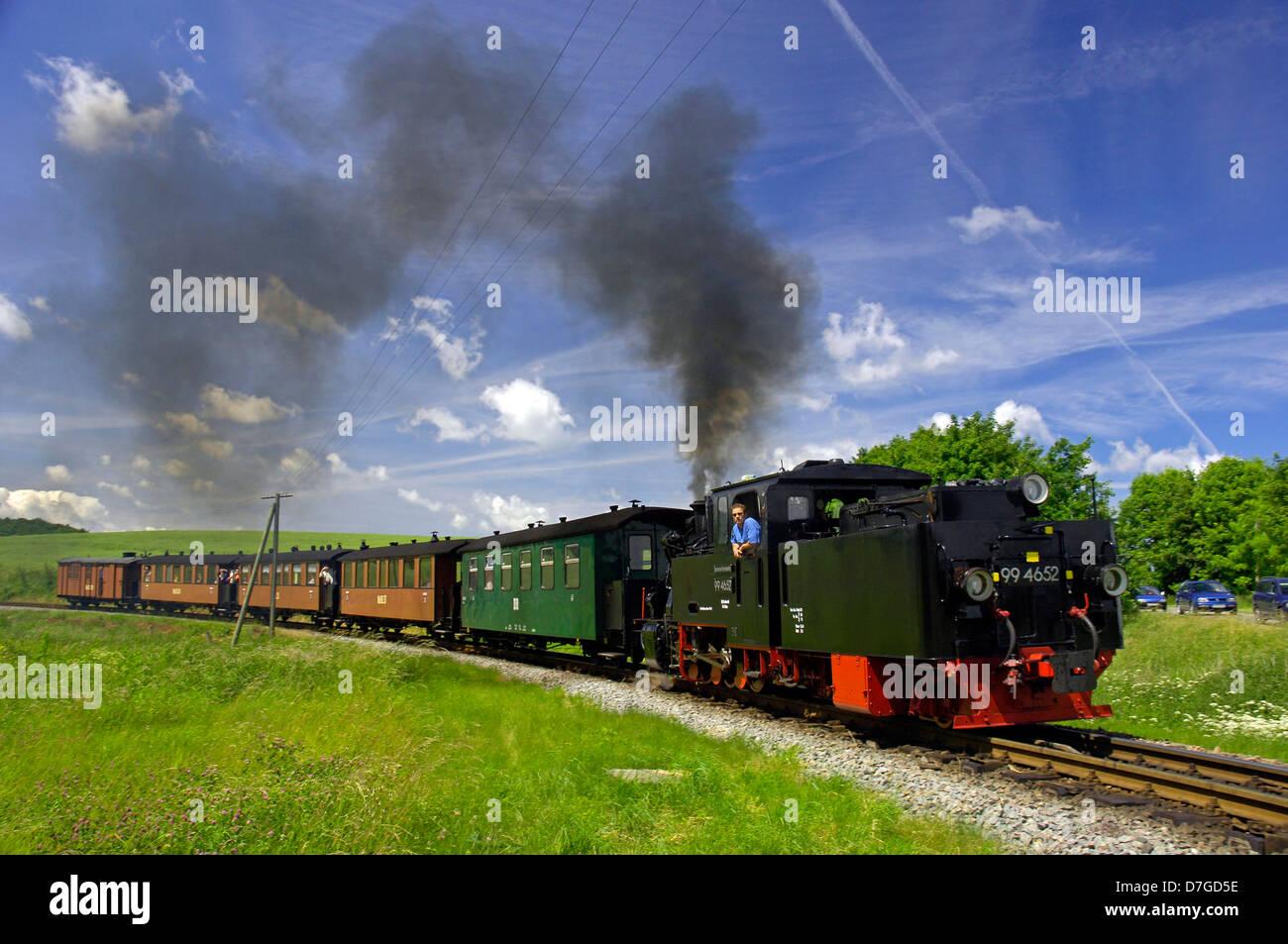 Germany, Mecklenburg-West Pomerania, island Rügen, racing Roland, locomotive, der rasende Roland - Stock Image