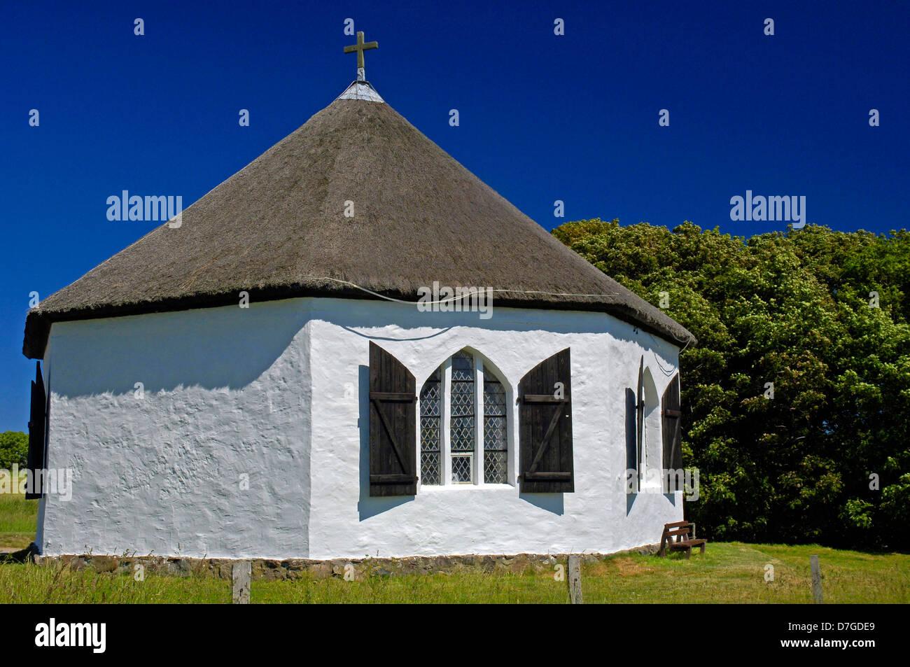 Germany, Mecklenburg-West Pomerania, island Rügen, cape Arkona, village Vitt, chapel, church - Stock Image