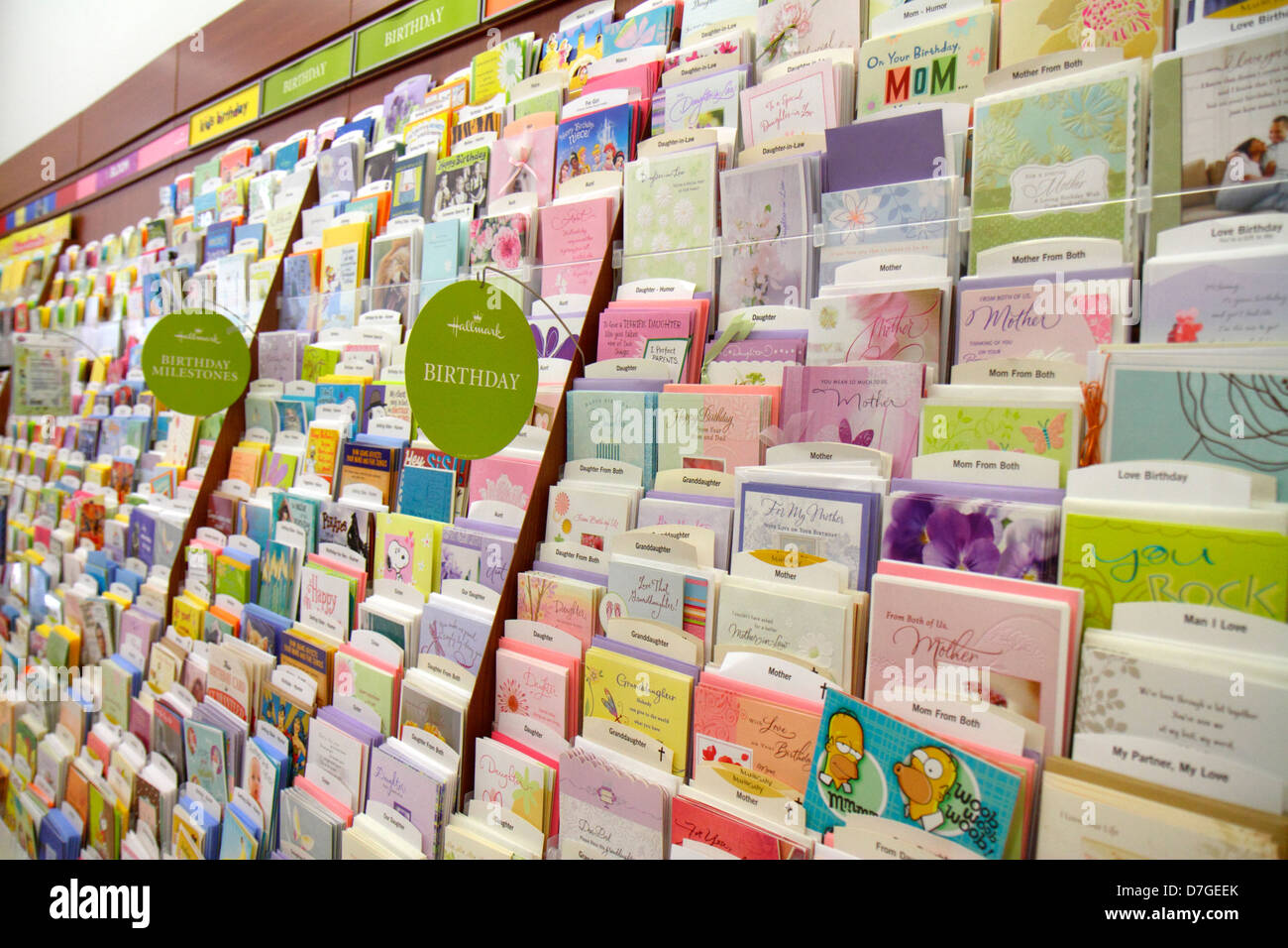 Miami Beach Florida Walgreens Pharmacy Drugstore Greeting Cards Get Well Birthday For Sale Retail Display