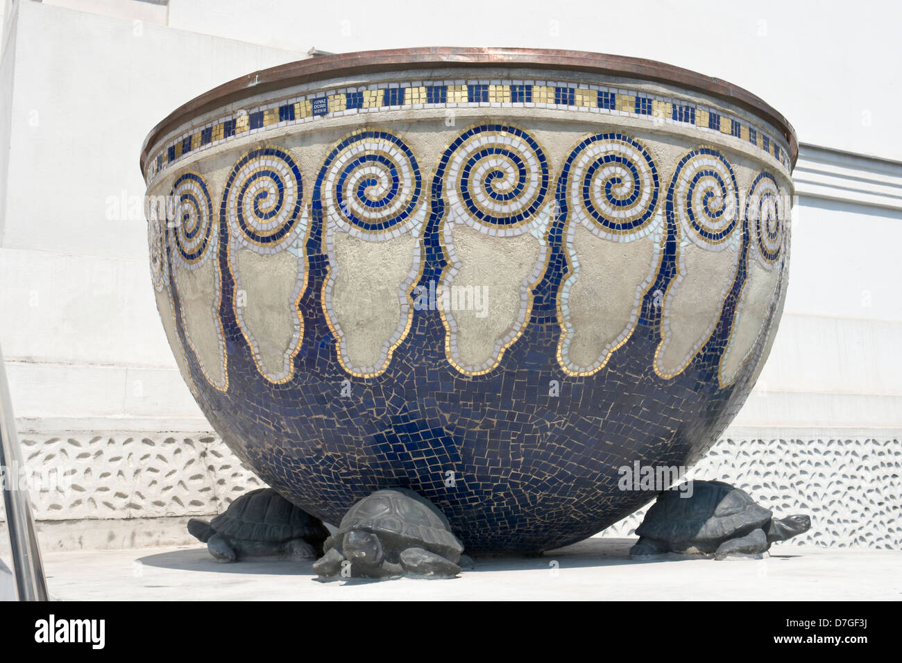 Secession building, decorated vase - Stock Image