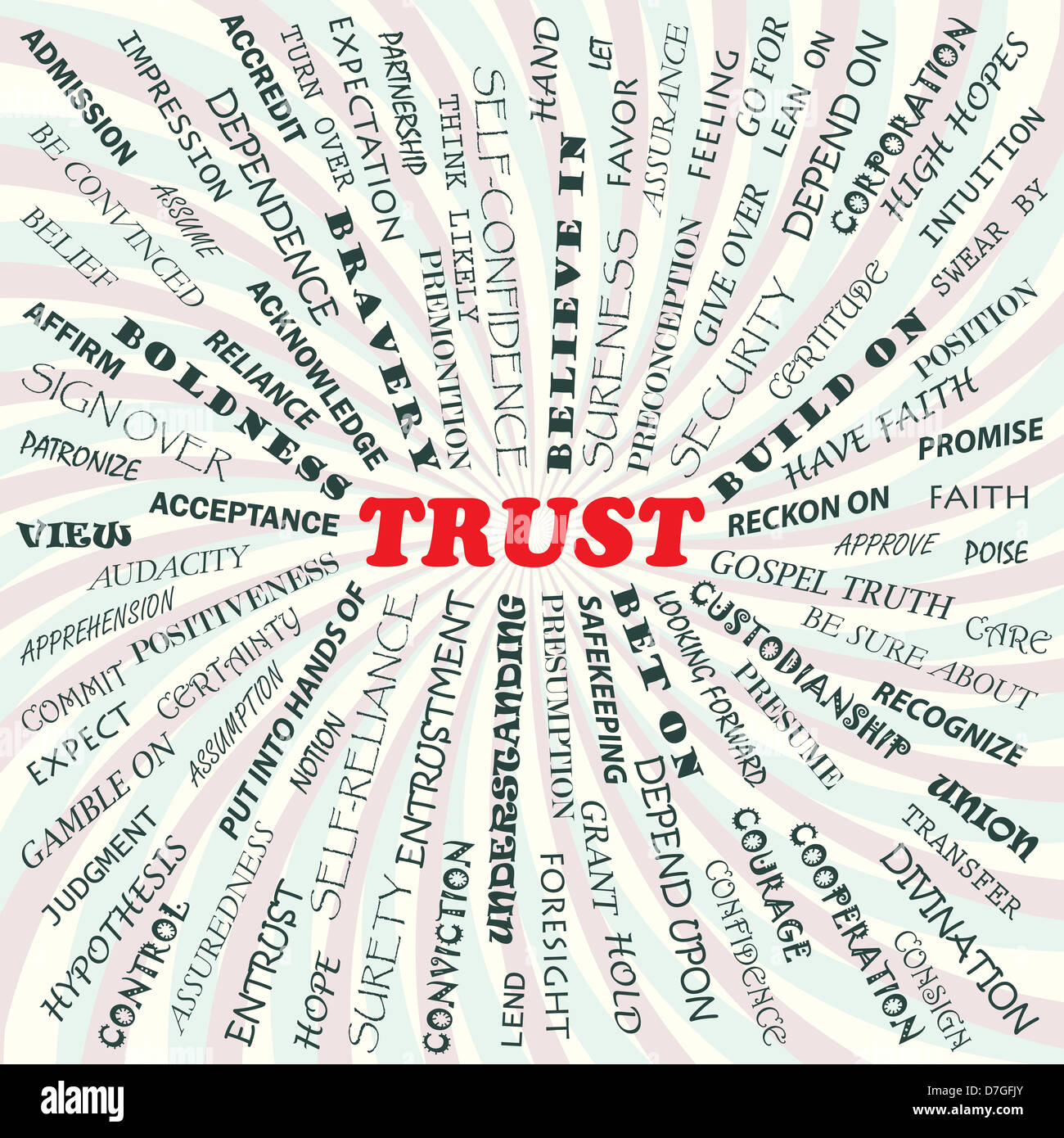 illustration of trust concept. - Stock Image