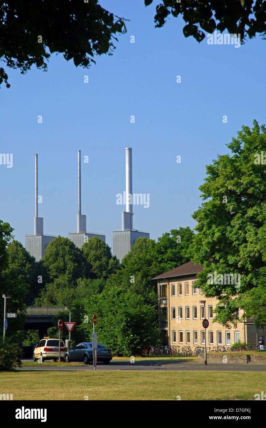 Germany, Lower Saxony, Hannover, heating power work - Stock Image