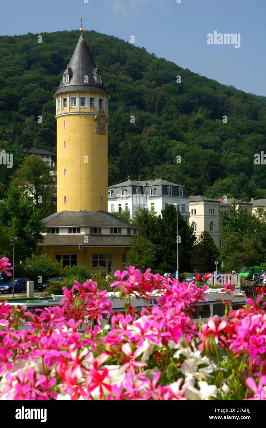 Deutschland, Germany, Rheinland-Pfalz, Bad Ems, Wasserturm, water-tower - Stock Image