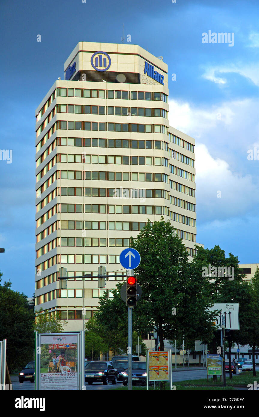 Germany, Hannover, Hochhaus, building of the insurance Allianz Versicherung, - Stock Image