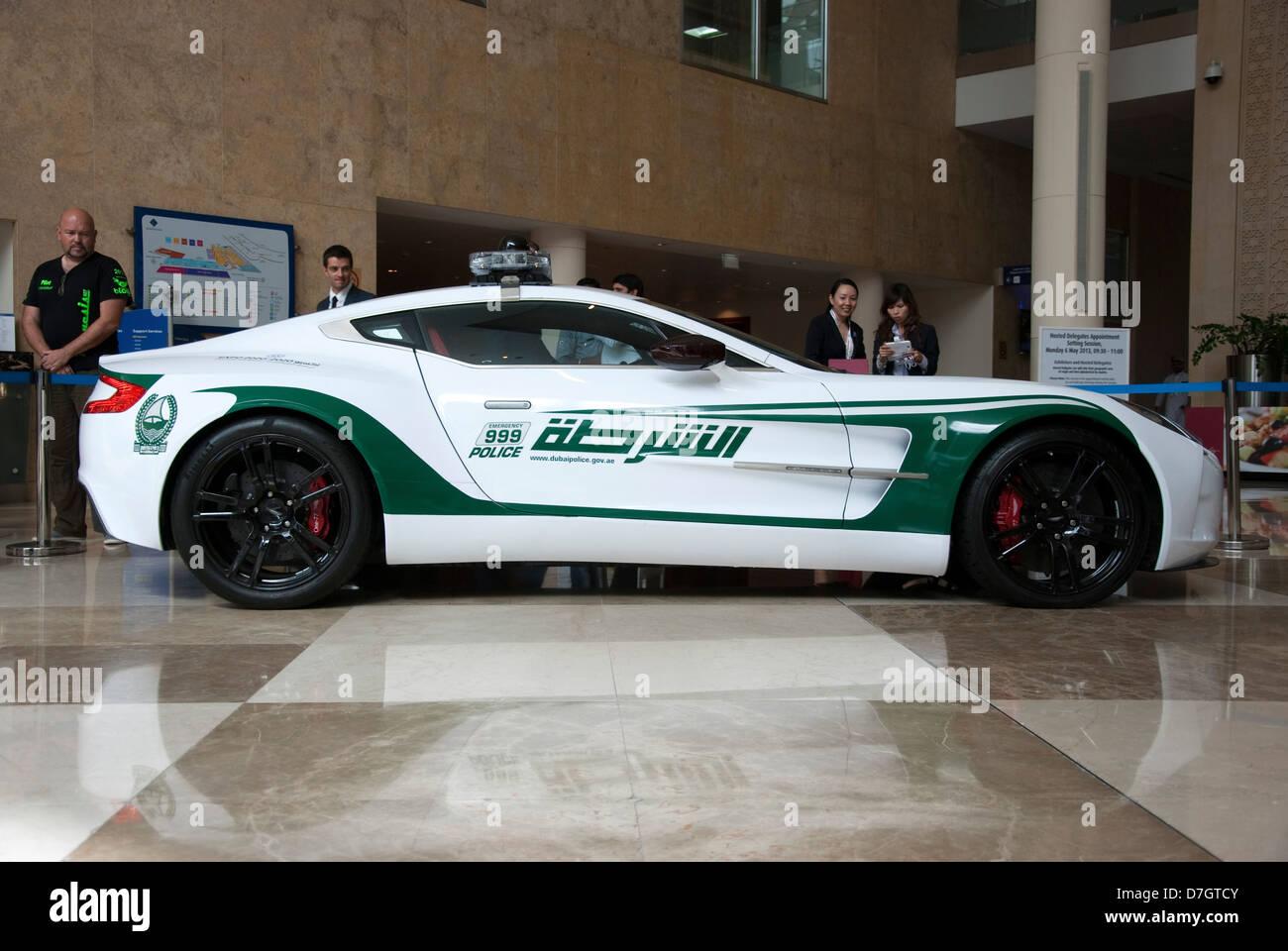 Dubai Police Aston Martin One77 Coupe Patrol Car Stock Photo Alamy