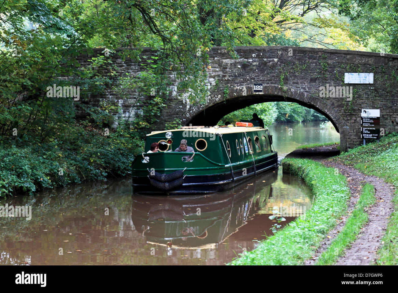 8885. Monmouthshire & Brecon Canal near Talybont-on-Usk, Powys, Wales, UK - Stock Image