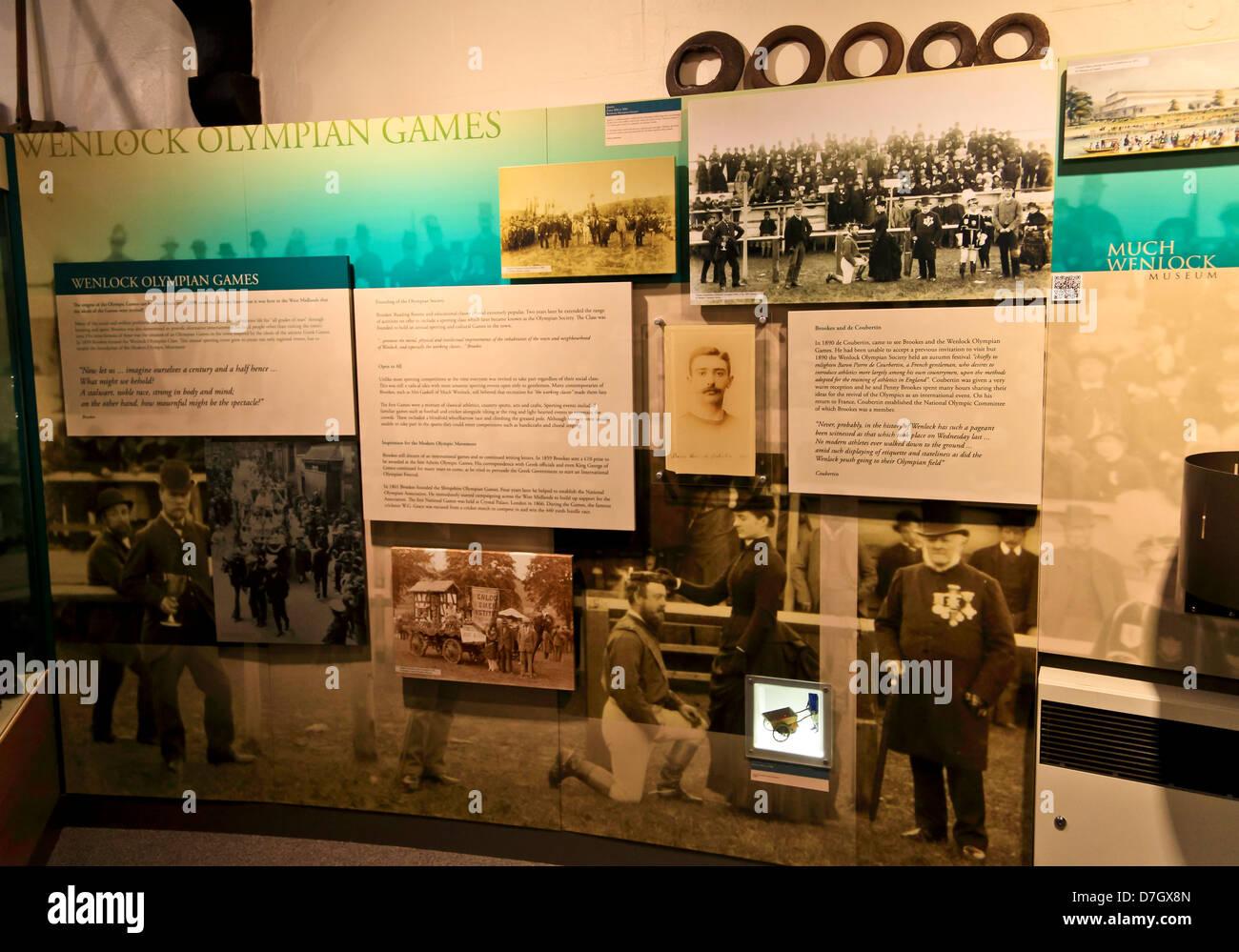 8899. Olympian Museum, Much Wenlock,. Shropshire, England, UK - Stock Image