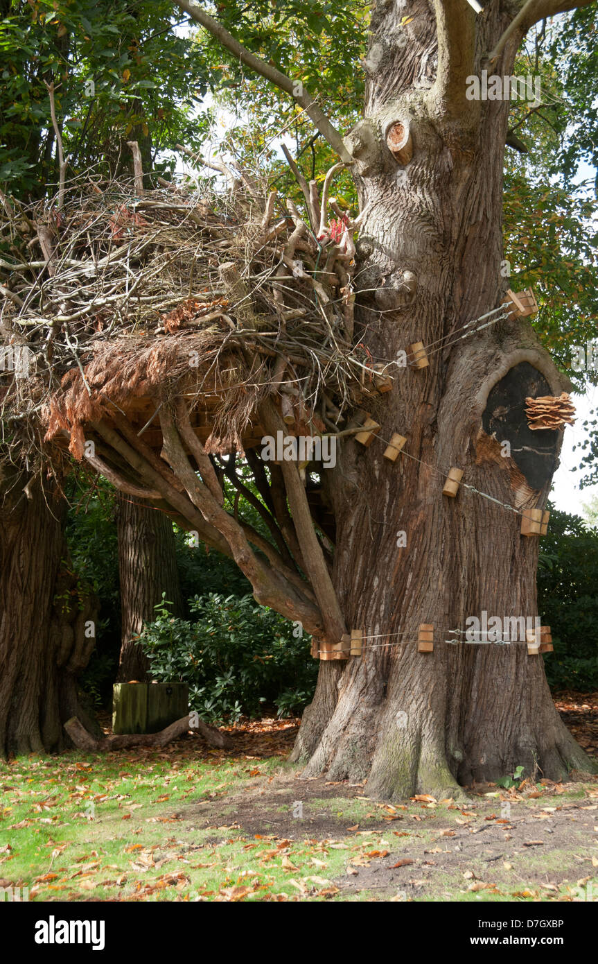 An exhibit in the Tatton Park Biennial 'Flights of Fancy' art exhibition, Knutsford, Cheshire, England, - Stock Image