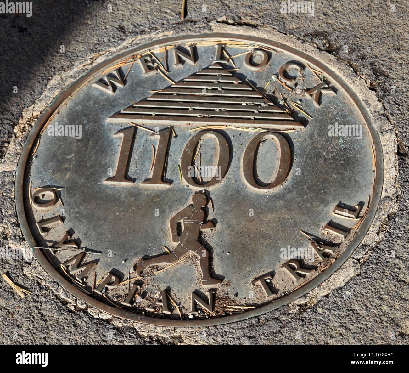 8908. Olympian Trail, Much Wenlock, Shropshire, England, UK - Stock Image