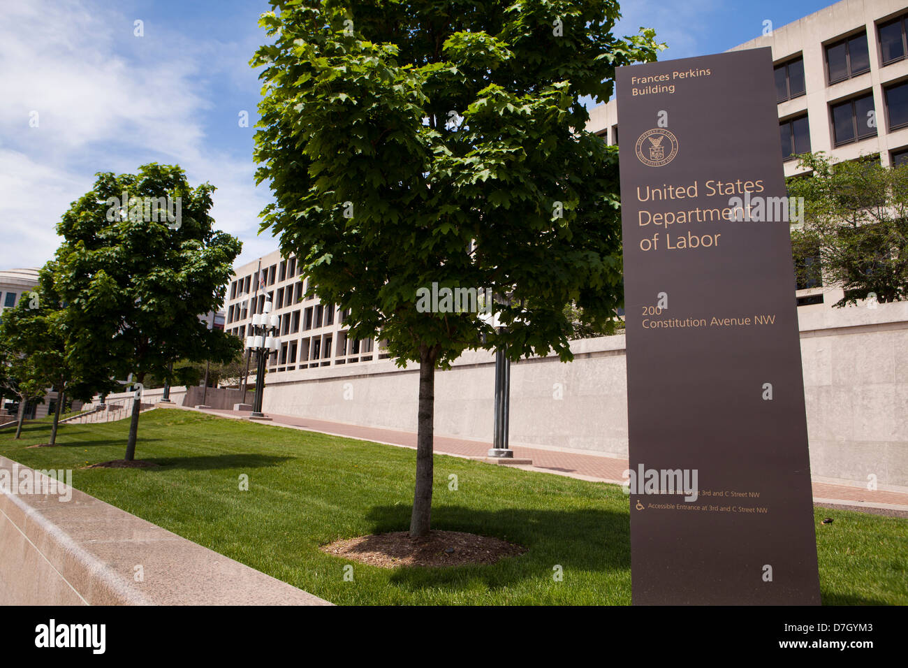 US Department of Labor headquarters building - Washington, DC USA - Stock Image