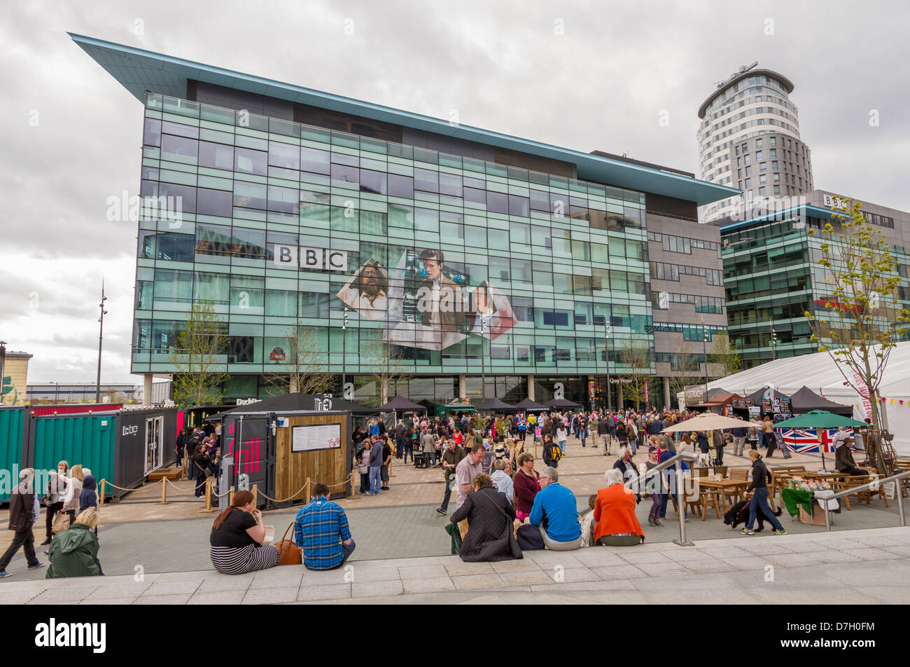 Salford, UK. 5th May 2013. The first ever Lowry Outlet Food Festival 2013 at MediaCity in Salford Quays. The festival - Stock Image