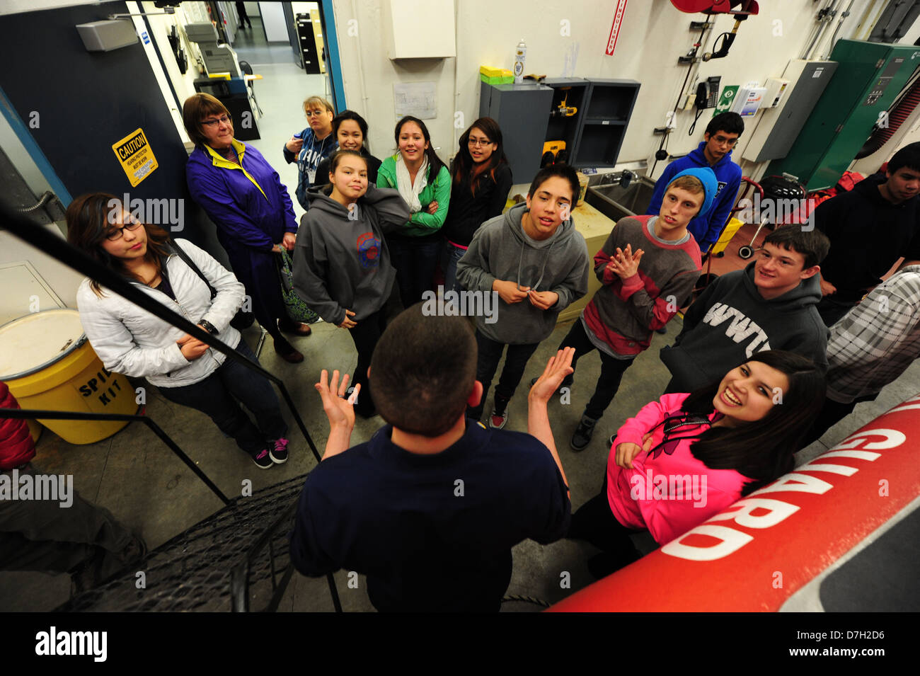 Kake High School visits Station Juneau - Stock Image