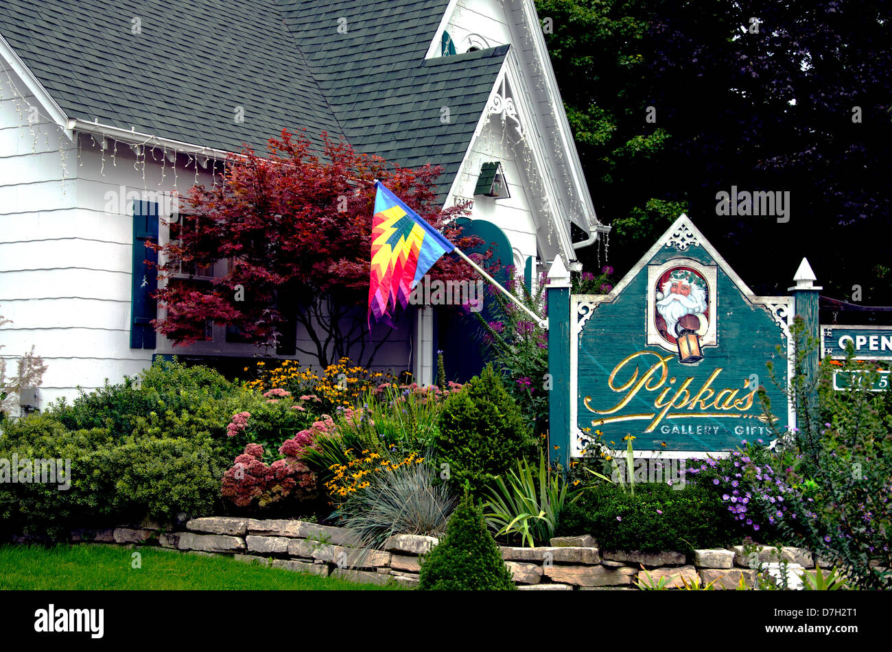 Pipka's  art gallery and gift shop in the  Door County  town of Sister Bay Wisconsin - Stock Image