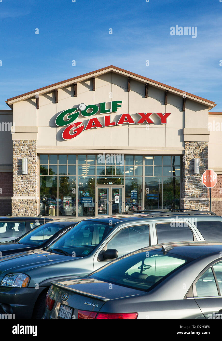 Golf Galaxy store, New Jersey, USA - Stock Image