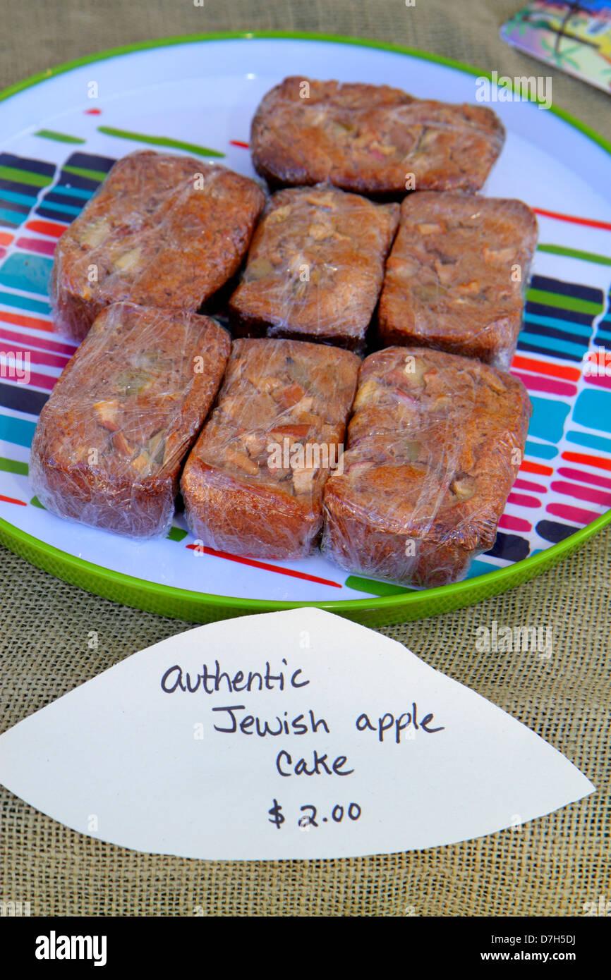 Miami Beach Florida farmers market authentic Jewish apple cake price