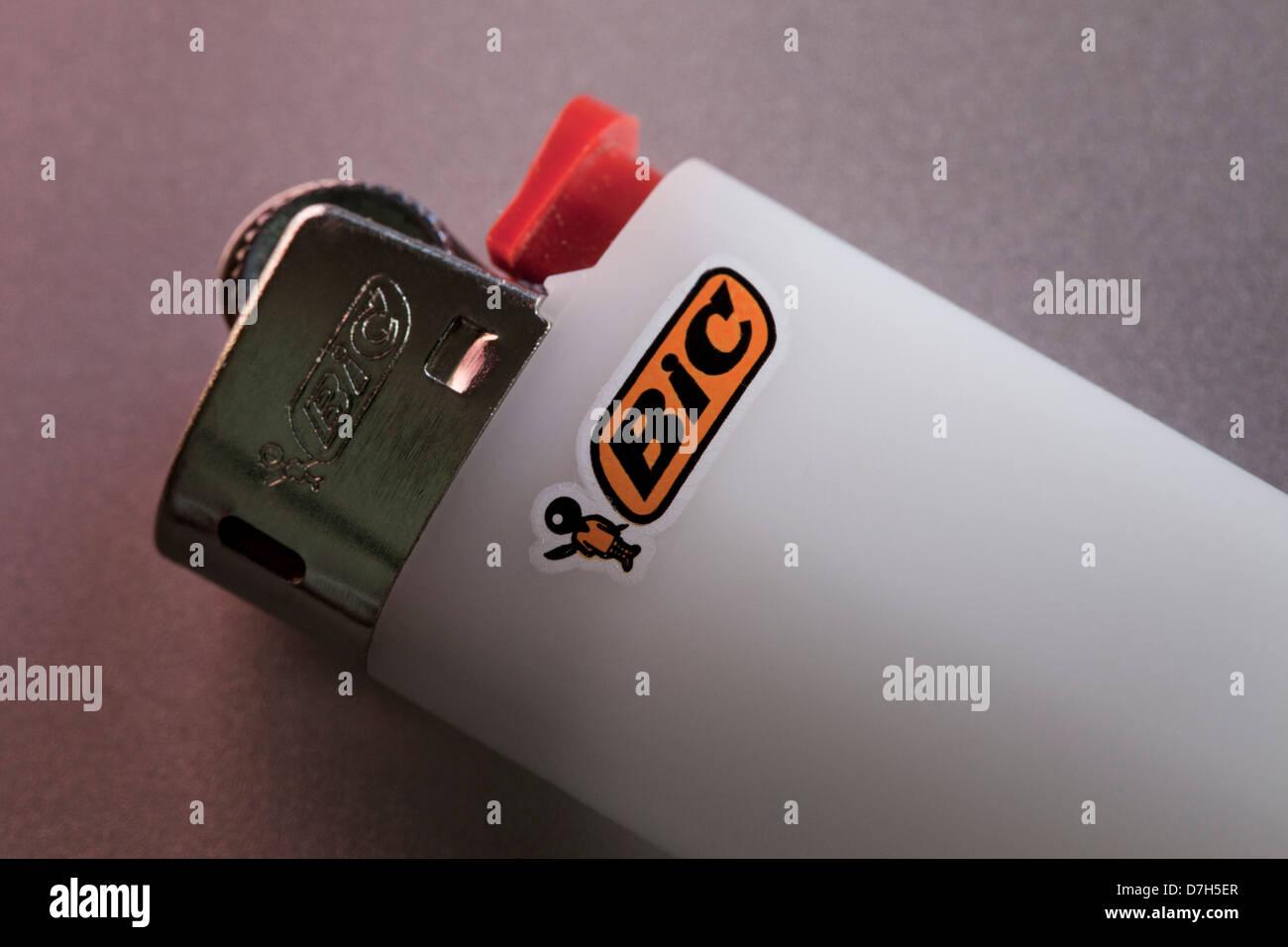BIC lighter closeup - Stock Image
