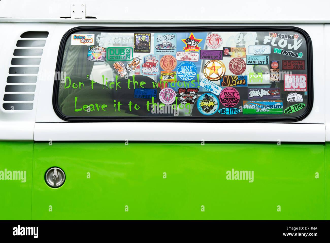 Vw volkswagen camper van window stickers