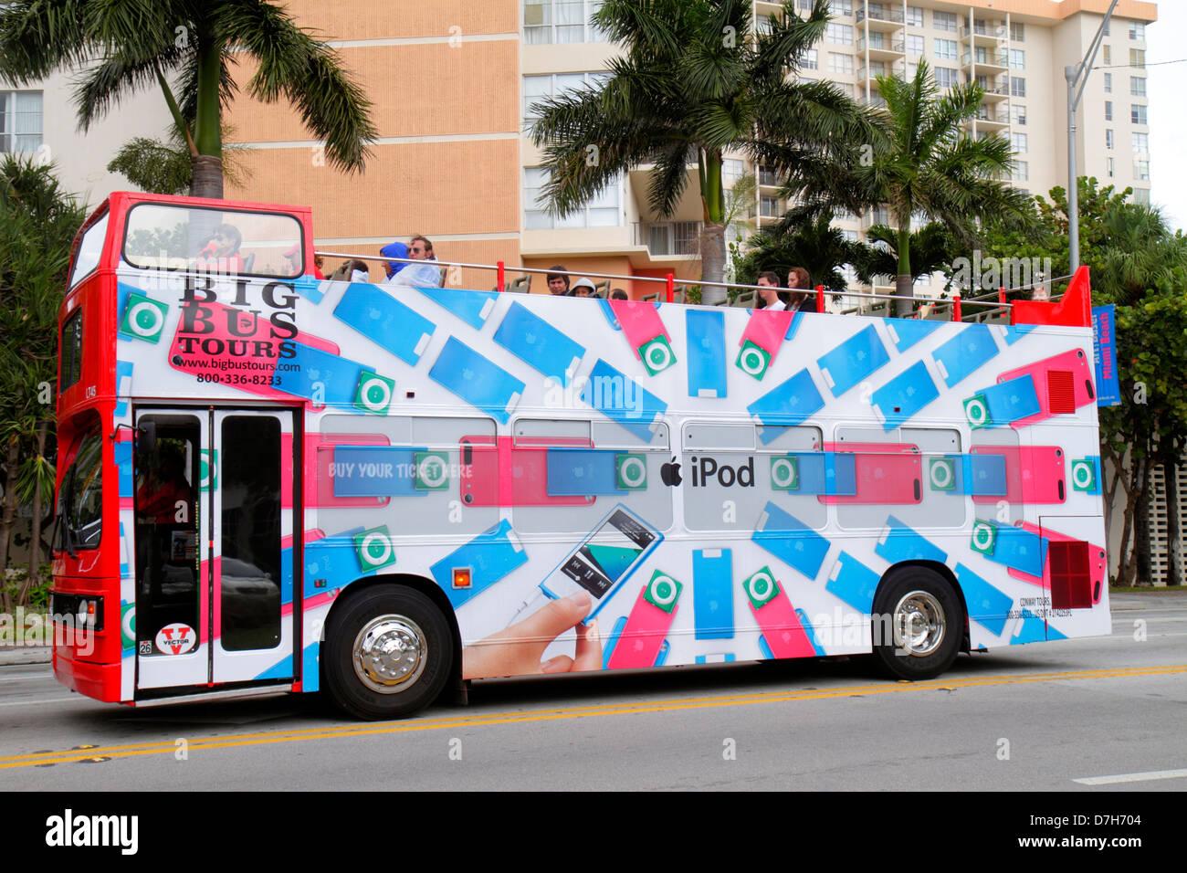 Miami Beach Florida 41st Street Arthur Godfrey Boulevard Big Bus
