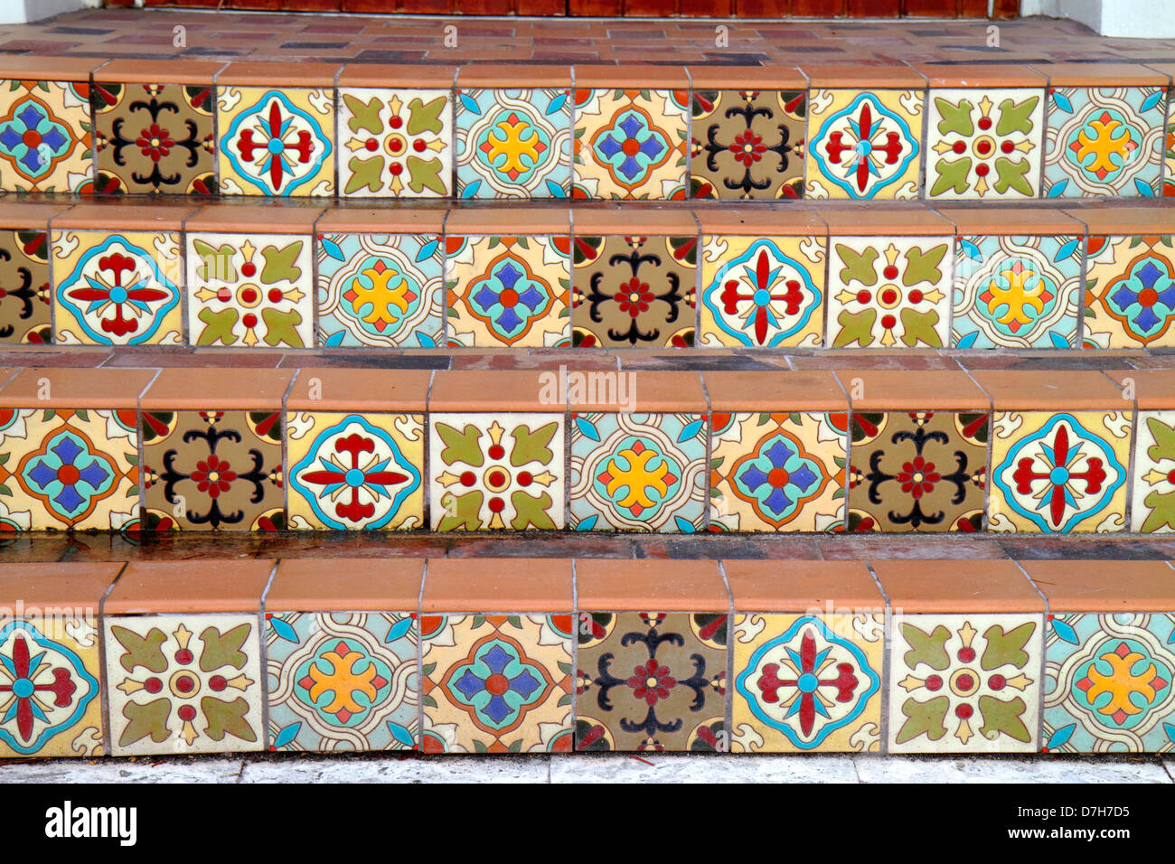 Spanish Ceramic Tiles In Style Stock Photos Spanish Ceramic Tiles