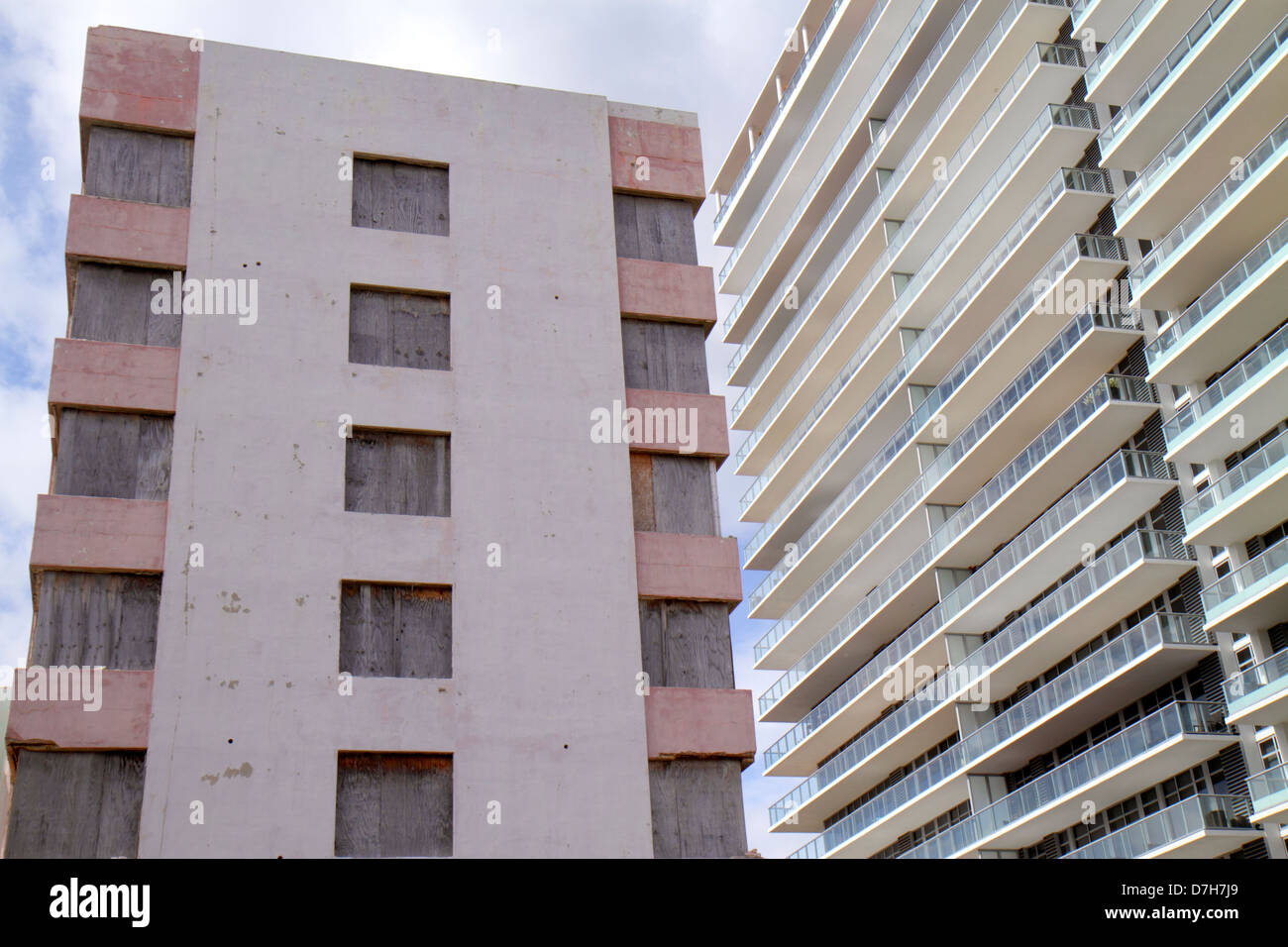 Florida, FL, South, Miami Beach, SoBe, Collins Avenue, hotel hotels lodging inn motel motels, closed, shuttered, Stock Photo