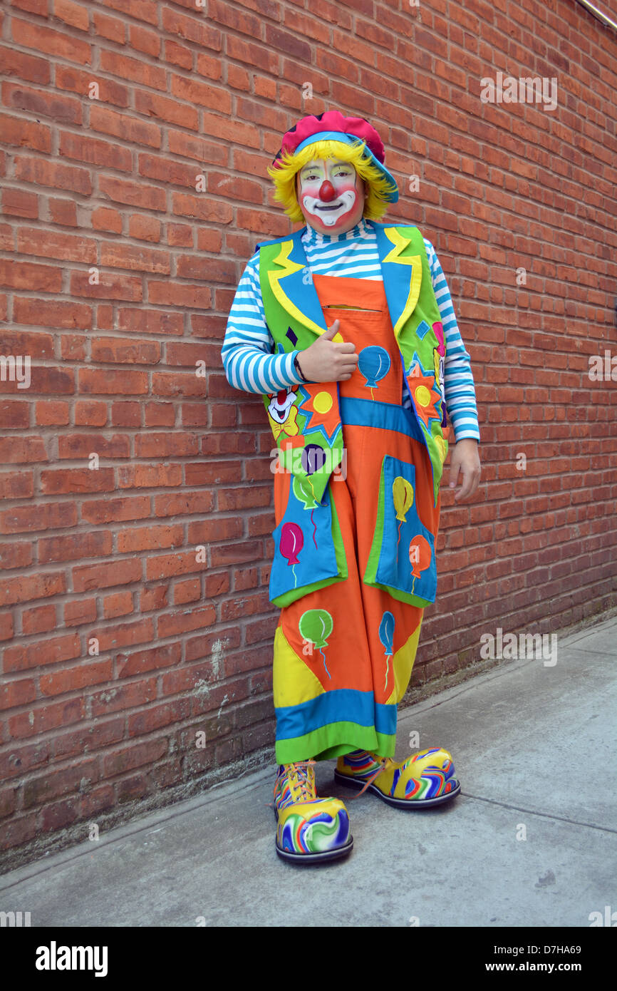 Jose, a Mexican American clown photographed in  Queens, New York - Stock Image