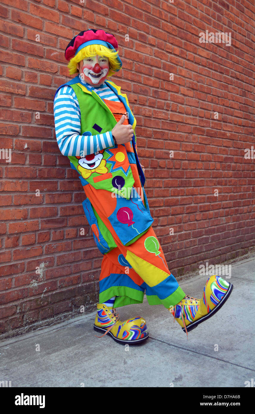 Jose, a Mexican American clown photographed in Woodside Queens, New York - Stock Image