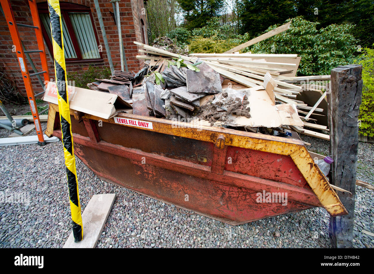 Construction work on a house - Stock Image