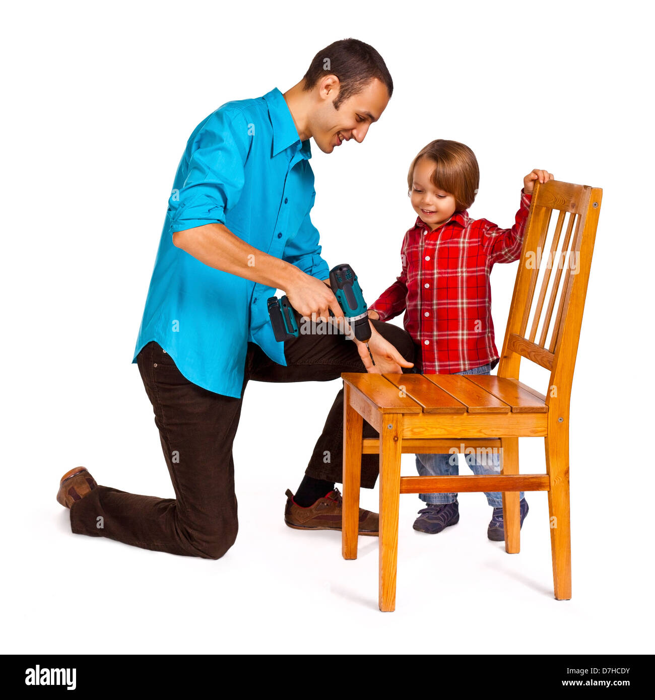 Father and son - do it yourself - Stock Image