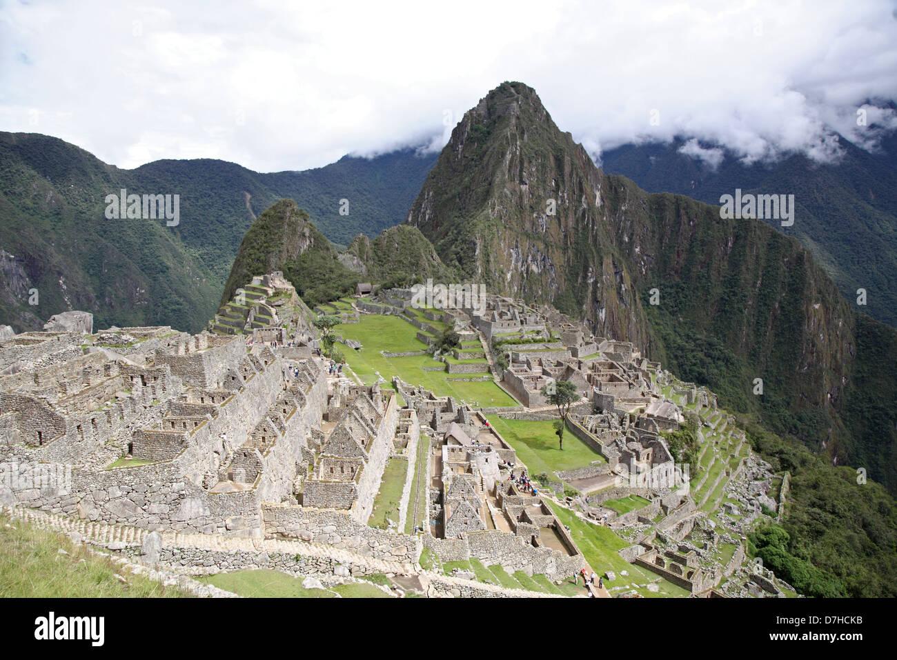 Peru Machupicchu Machu Picchu Huayna Picchu - Stock Image