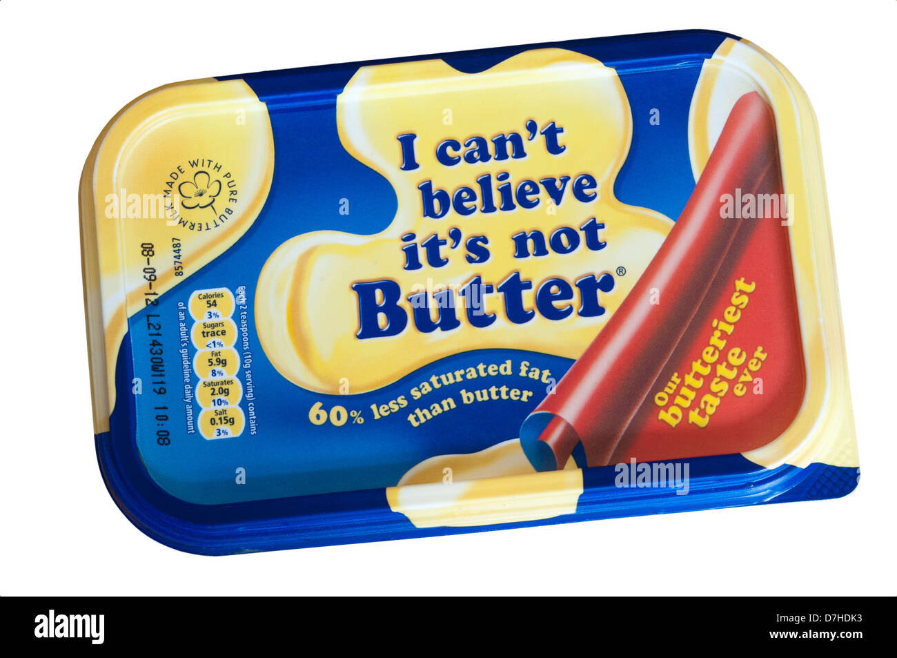 Tub Of I Cant Believe Its Not Butter - Stock Image