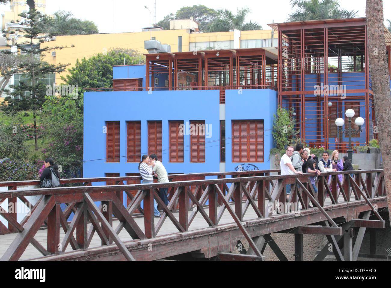 Peru Lima Barranco Puente de los Suspiros bridge of sighs - Stock Image